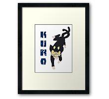 Kuro Blue Exorcist Framed Print