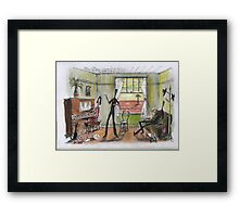 Singalong at the station Framed Print