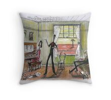 Singalong at the station Throw Pillow