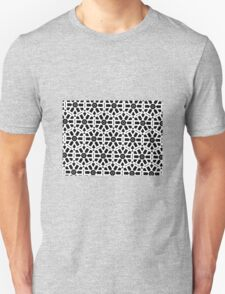 GEOMETRIC WHITE, BLACK & FROSTED TEAL Unisex T-Shirt