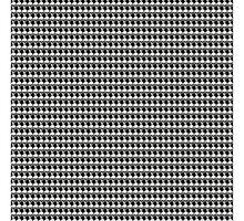 Skulls on Black by djhypnotixx