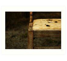 Chair in Sepia  Art Print