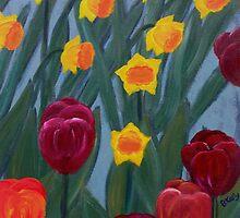 Tulips & daffodils by brendak