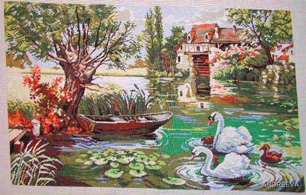 GOBELIN THE SCHWARN LAKE by ANDREEVA