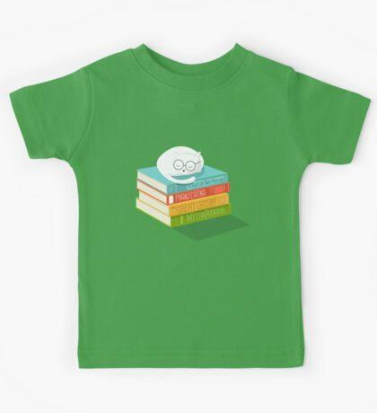 The Cat Loves Books Kids Tee