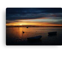 Swan Bay Sunset, Queenscliff Canvas Print