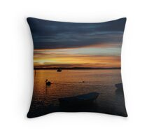 Swan Bay Sunset, Queenscliff Throw Pillow