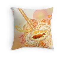 Musical Red Fish Throw Pillow