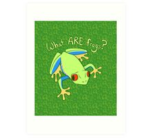 What ARE Frogs? (Tree edition) Art Print