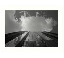 Looking Up v8 - AIG building, Hong Kong Art Print