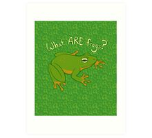 What ARE Frogs? (Basic edition) Art Print