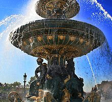Paris fountain by keenzy