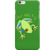 What ARE Frogs? (Tree edition) iPhone Case/Skin