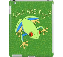 What ARE Frogs? (Tree edition) iPad Case/Skin