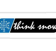 Think Snow Sticker