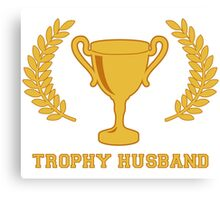 Happy Golden Trophy Husband Canvas Print
