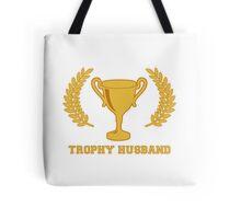 Happy Golden Trophy Husband Tote Bag