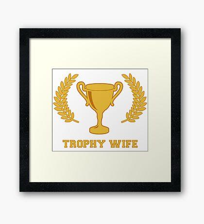 Happy Golden Trophy Wife Framed Print