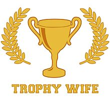 Happy Golden Trophy Wife Photographic Print