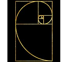 Golden Ratio Sacred Fibonacci Spiral Photographic Print