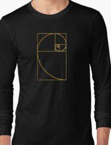 Golden Ratio Sacred Fibonacci Spiral Long Sleeve T-Shirt