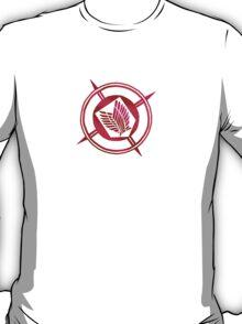 Recon Corps Logo White Shiny T-Shirt