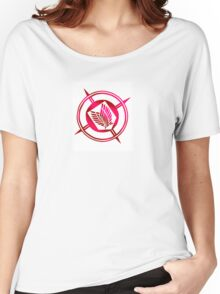Recon Corps Logo White Shiny Women's Relaxed Fit T-Shirt