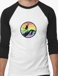 skiing 1 Men's Baseball ¾ T-Shirt