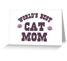 World's Best Cat Mom Greeting Card