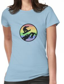 snowboarding 1 Womens Fitted T-Shirt