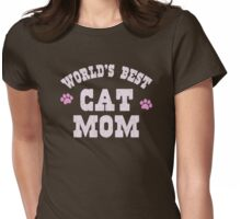 World's Best Cat Mom Womens Fitted T-Shirt