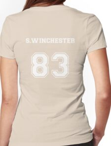 Sam Winchester Varsity Hoodie Supernatural Womens Fitted T-Shirt