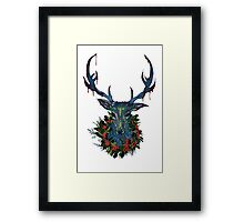 Deck the RavenStag with Boughs of Holly Framed Print