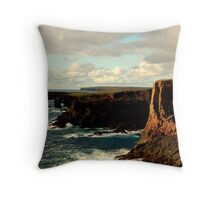 Cliffs Of Eshaness Throw Pillow