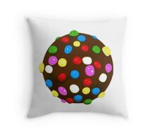 Chocolate Candy Color Ball Throw Pillow