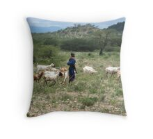 Samburu farmer Throw Pillow
