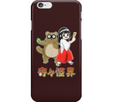 Pocky and Rocky (Super Famicom Version) iPhone Case/Skin