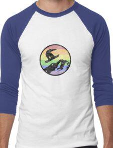 Snowboarding 1 distressed Men's Baseball ¾ T-Shirt