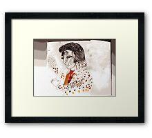elvis drawing Framed Print