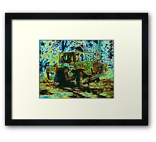 Green to brown Framed Print