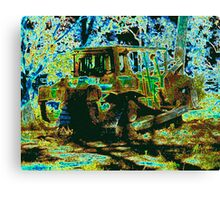 Green to brown Canvas Print