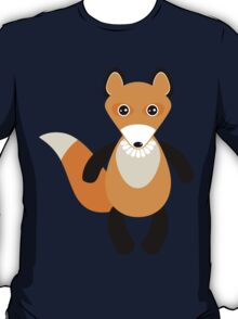 fox and forest tree.  T-Shirt