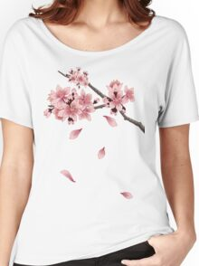 Cherry Blossom Branch Women's Relaxed Fit T-Shirt