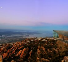 Hobart From Mt Wellington by Caro