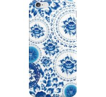 Vintage Seamless pattern with blue flowers and leaves  iPhone Case/Skin