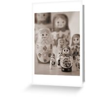 Still life with Matrioshka Greeting Card