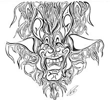 Abstract Face Flame Design by Adri Turner