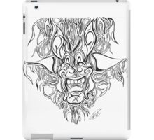 Abstract Face Flame Design iPad Case/Skin