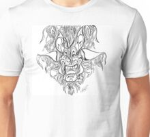 Abstract Face Flame Design Unisex T-Shirt
