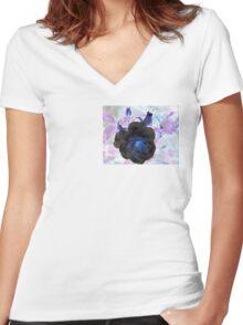 Dark Elegance....... Women's Fitted V-Neck T-Shirt